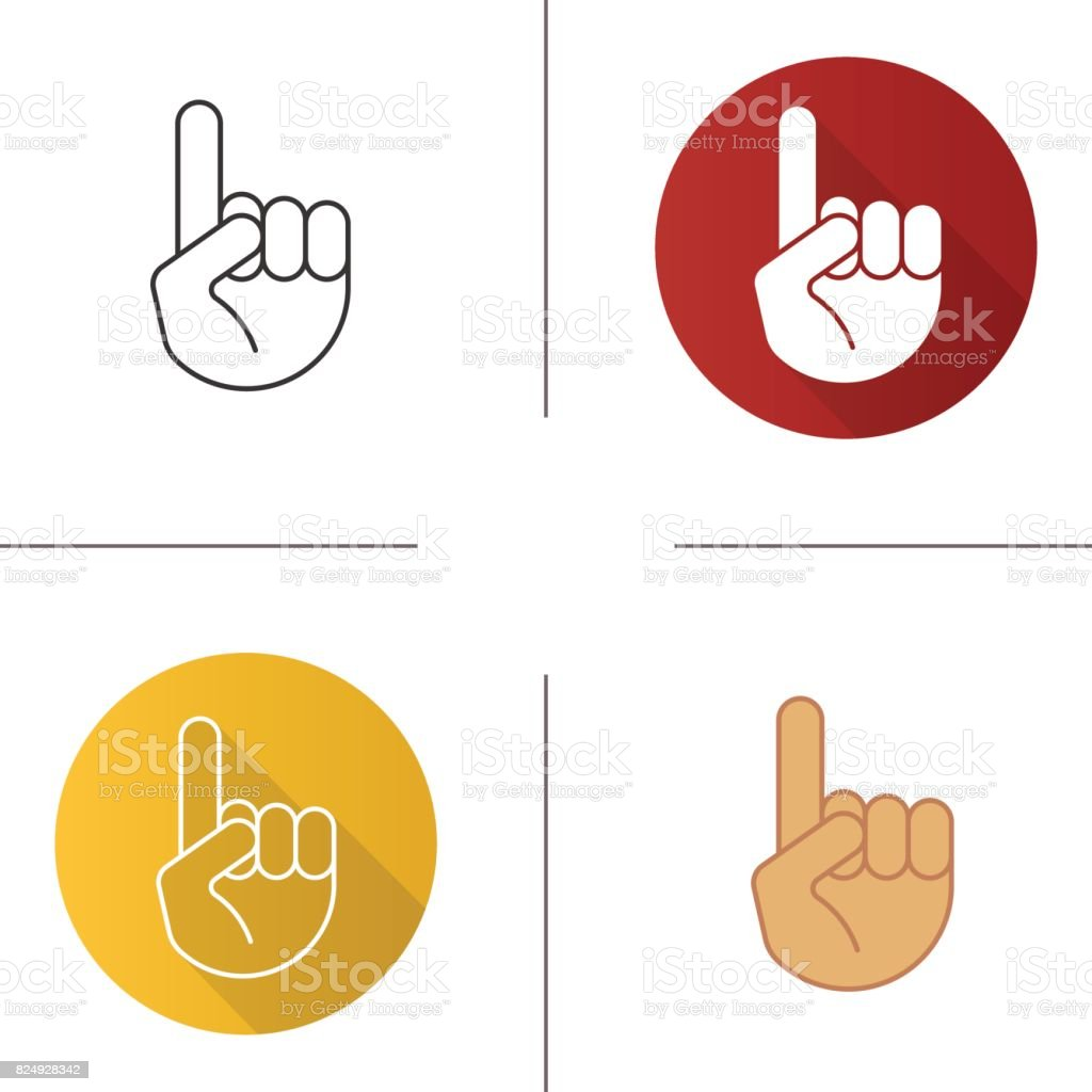 Attention hand gesture icons vector art illustration
