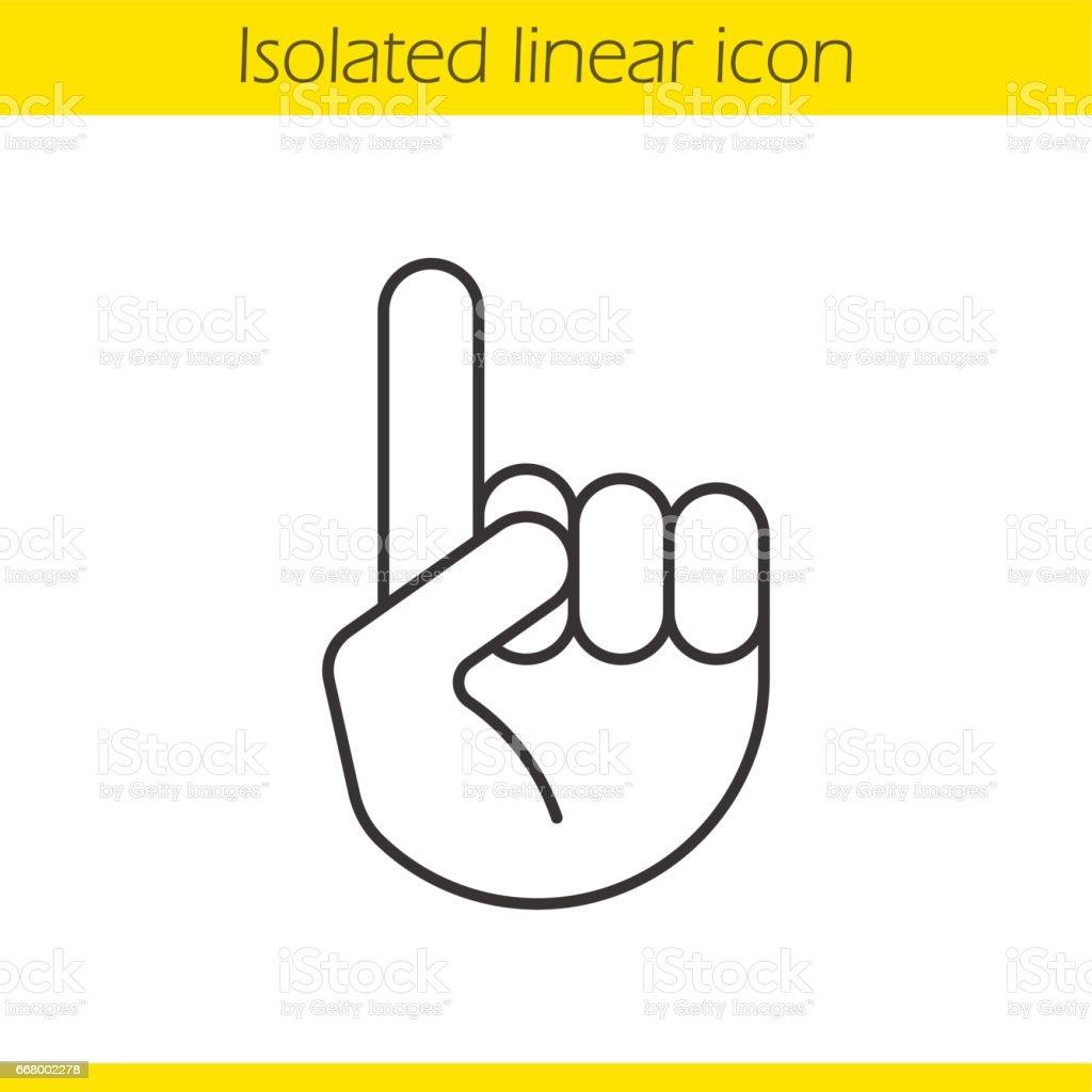 Attention icon vector art illustration