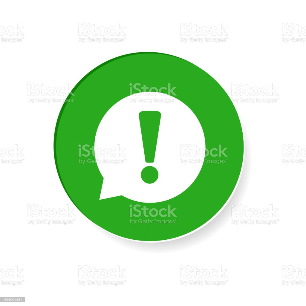 Attention Icon vector illustration in flat style isolated on white background. Symbol for web site design, logo, app, ui. vector art illustration