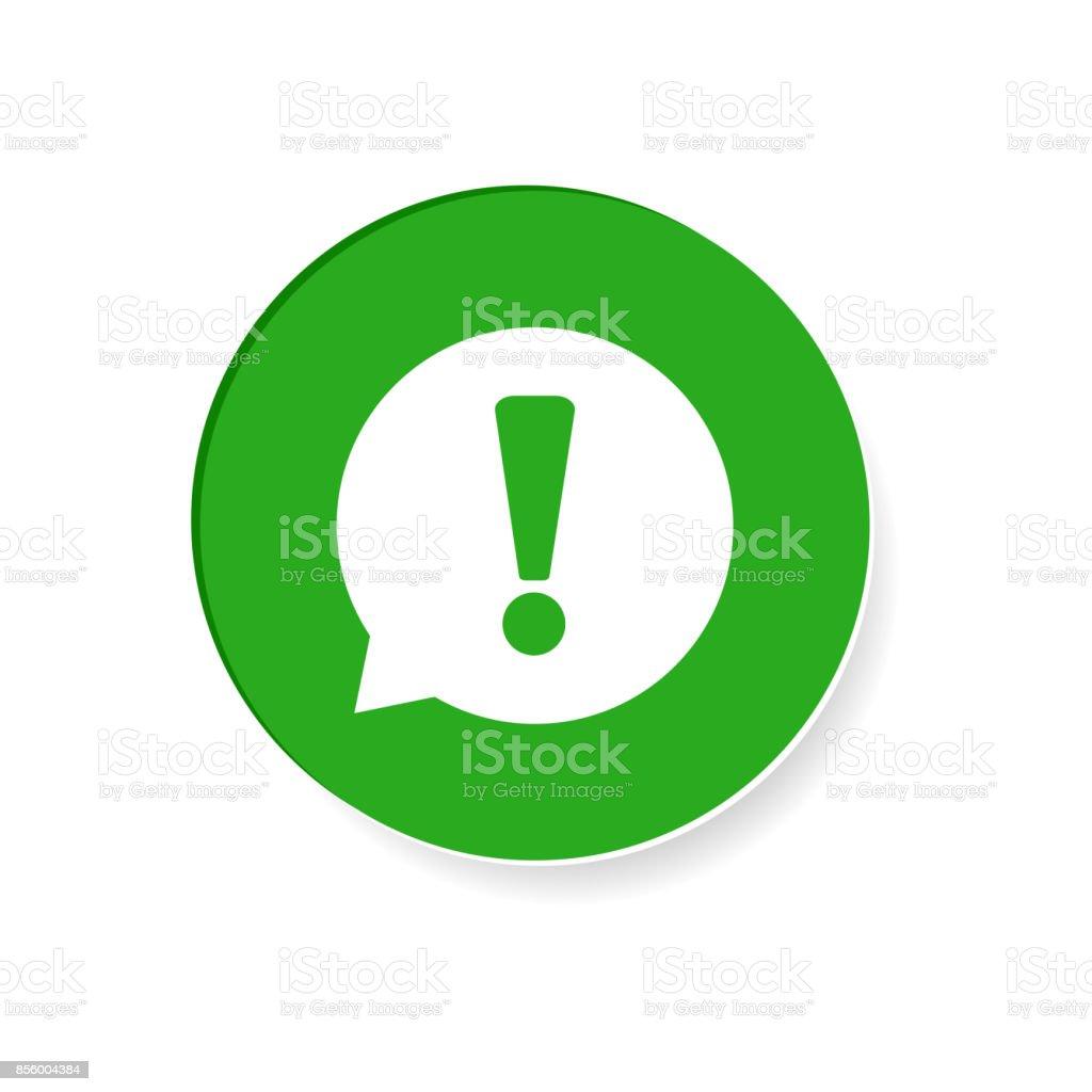 Achtung-Symbol Vektor-Illustration im flachen Stil isoliert auf weißem Hintergrund. Symbol für Website-Design, Logo, app, Ui. – Vektorgrafik