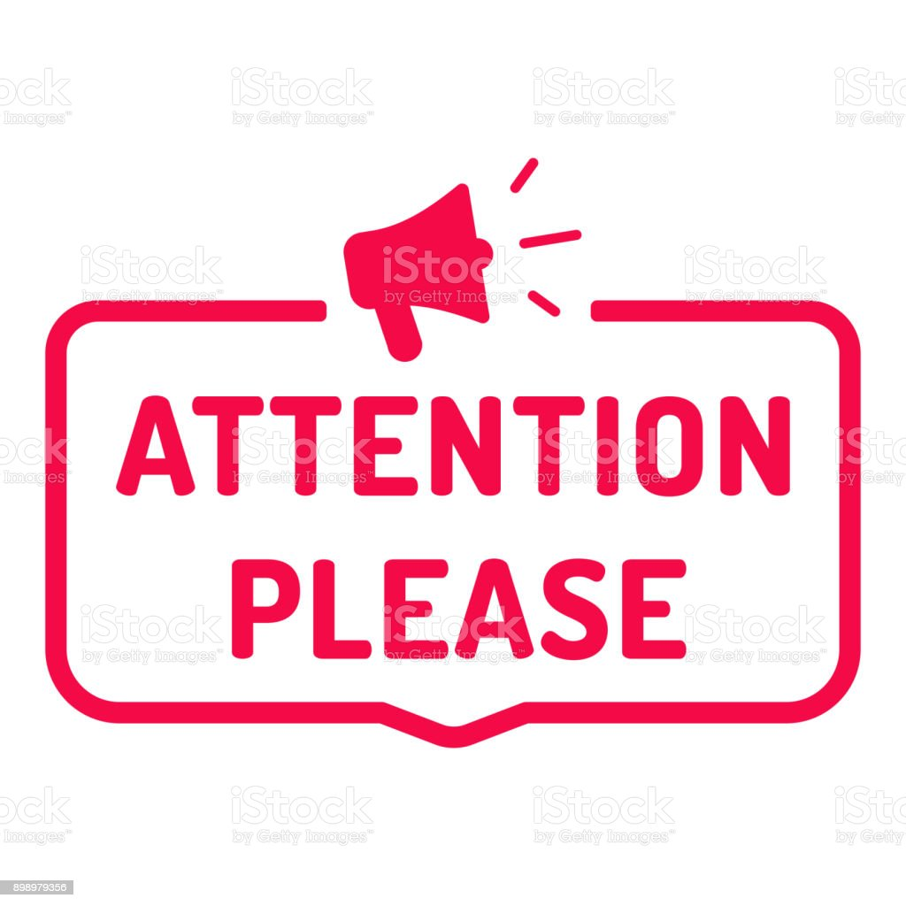 Image result for attention clip art