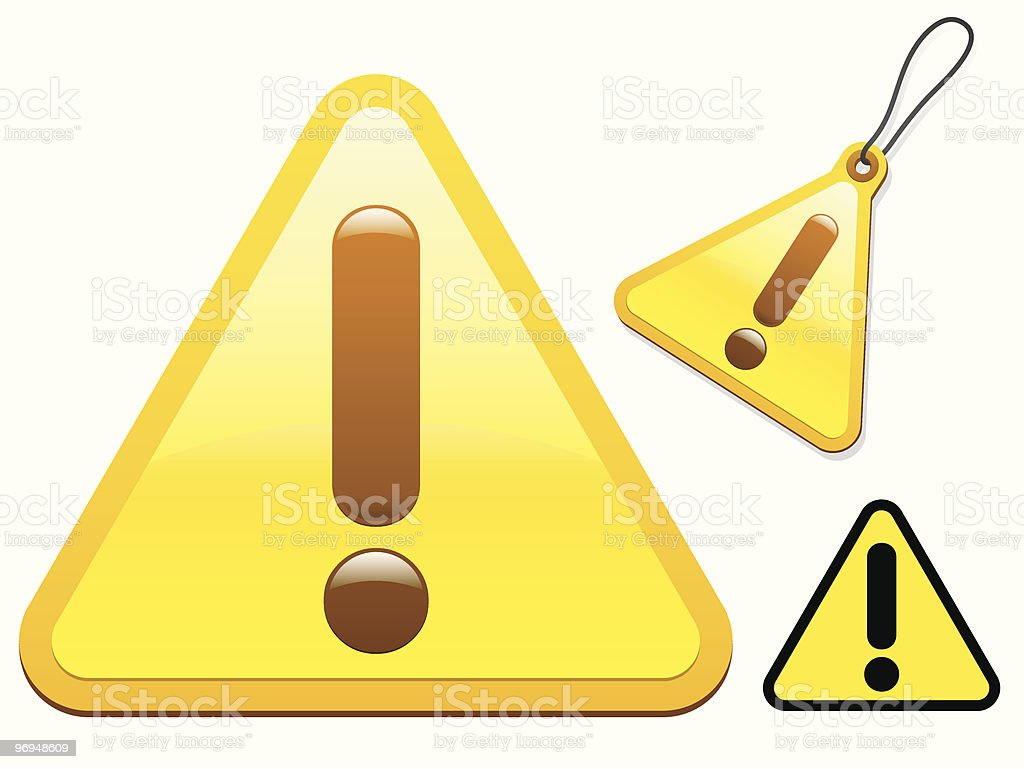 Attention sign collection royalty-free stock vector art