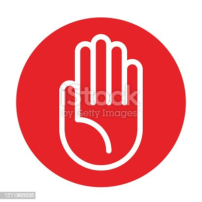istock Attention sign. Stop sign 1211965535
