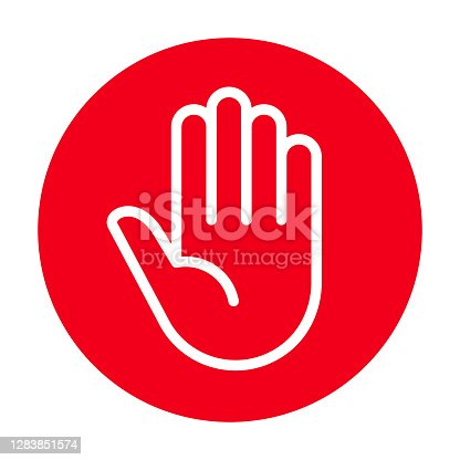istock Attention sign. Stop sign 1283851574