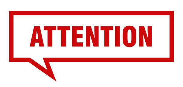 Attention sign vector art illustration