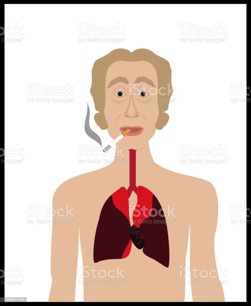 Attention smoking is dangerous for your life! vector art illustration