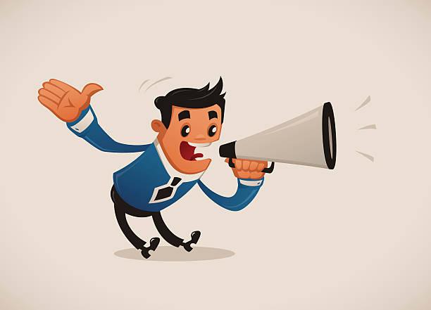 Attention! vector art illustration