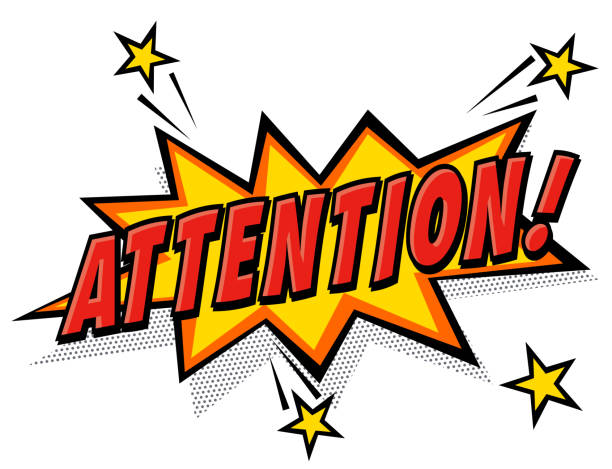 attention - attention stock illustrations, clip art, cartoons, & icons
