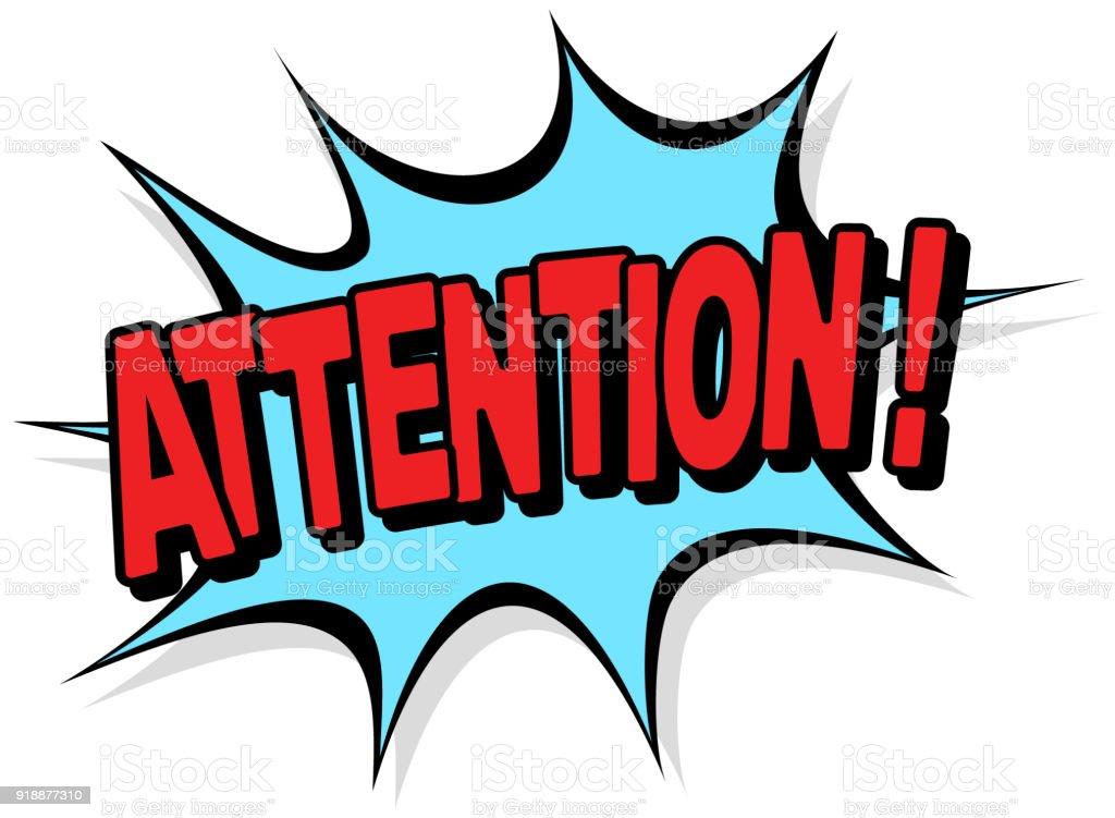 Attention vector art illustration