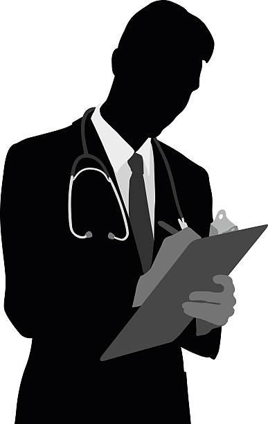 ilustrações de stock, clip art, desenhos animados e ícones de família médico atencioso - da cintura para cima