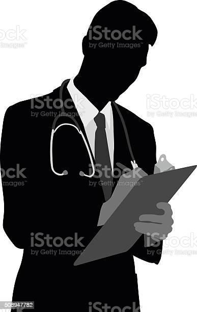 Família Médico Atencioso - Arte vetorial de stock e mais imagens de Adulto