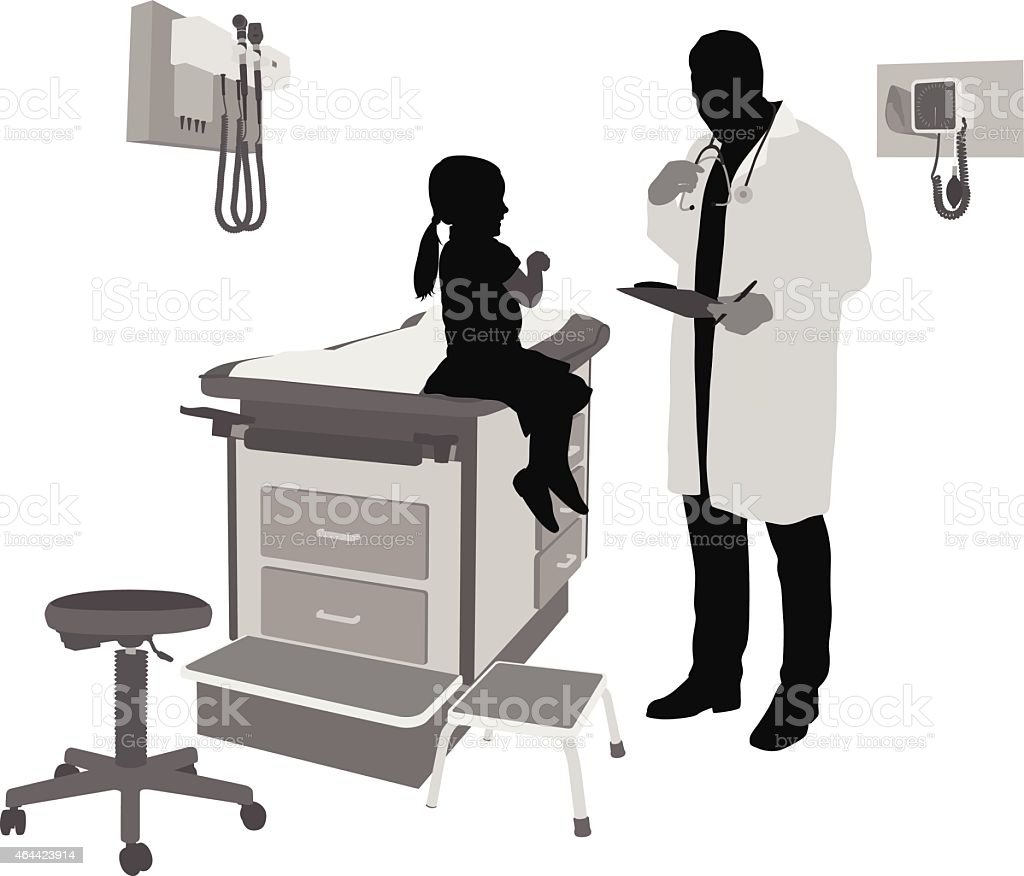 AtTheClinic vector art illustration