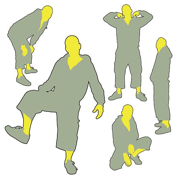 Attitude Silhouettes Series vector art illustration