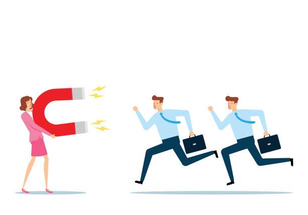 Attracting Intelligent People vector art illustration