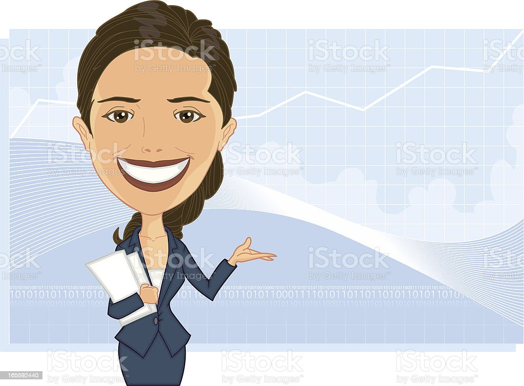 Attractive Business Woman vector art illustration