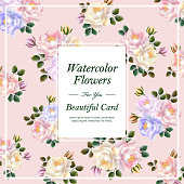 attractive floral card template