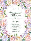attractive floral poster template