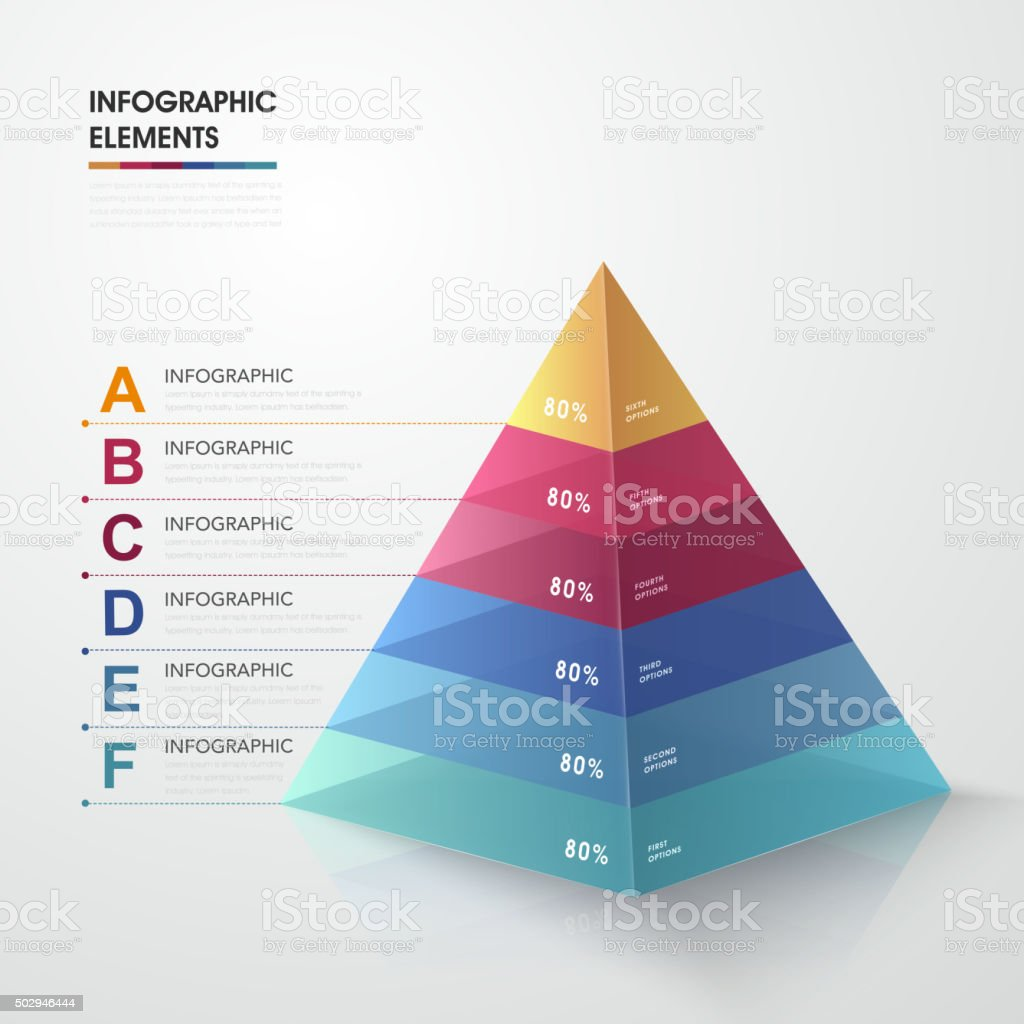 attractive infographic design vector art illustration