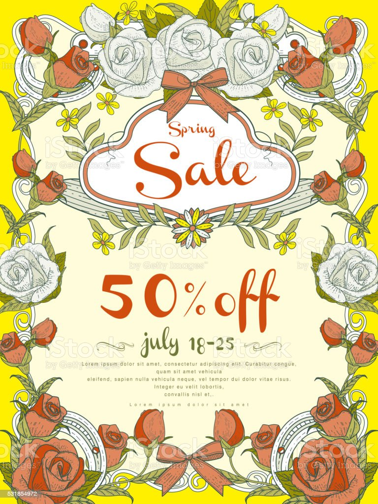 attractive sale poster design vector art illustration