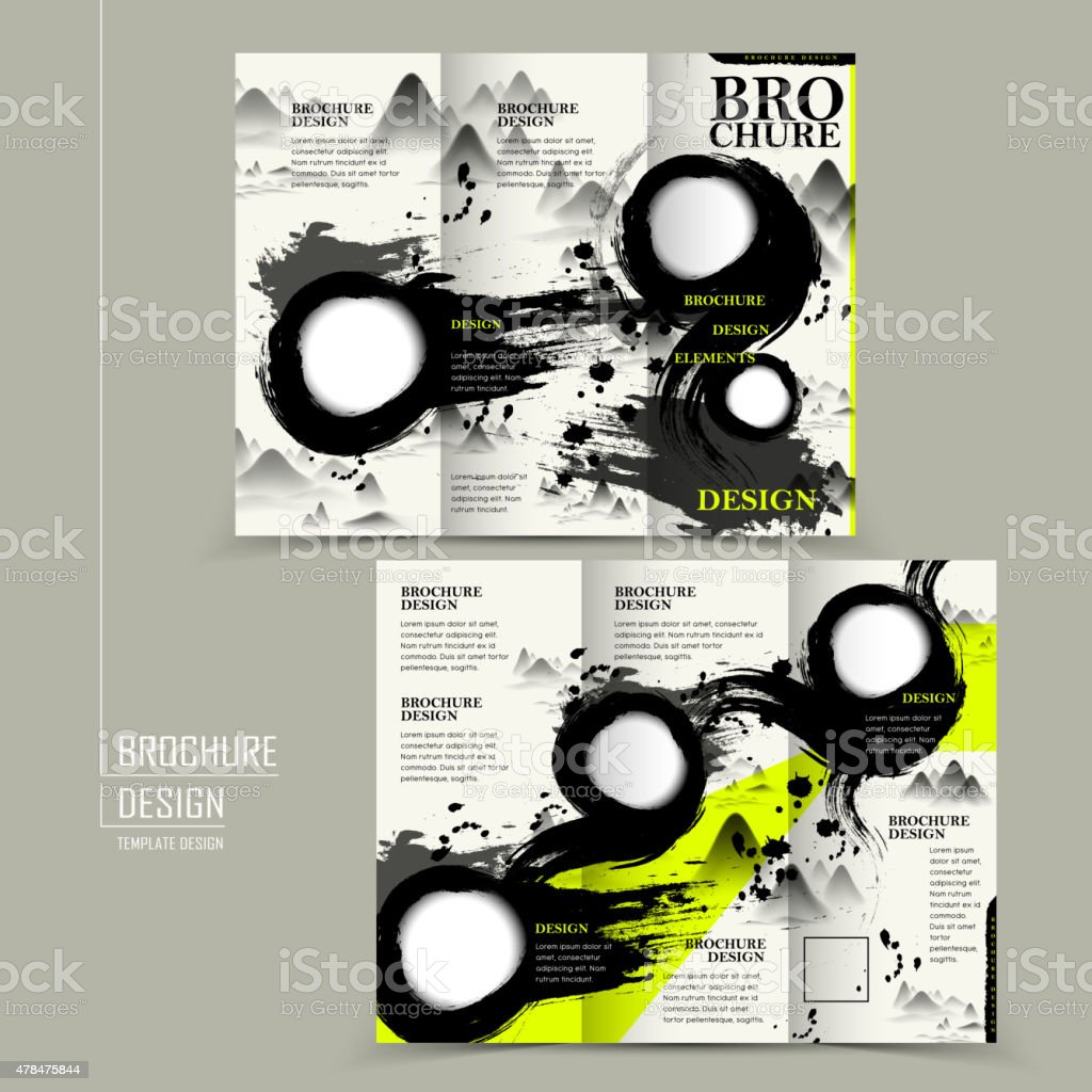 attractive tri fold brochure design royalty free attractive trifold brochure design stock vector art