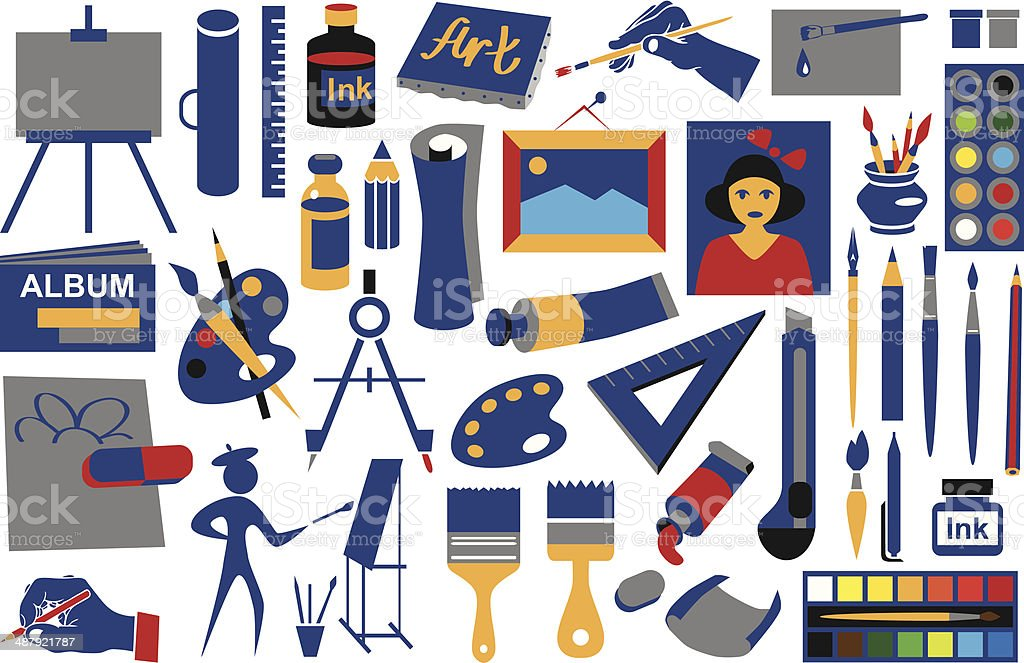 attributes art icons royalty-free attributes art icons stock vector art & more images of angle