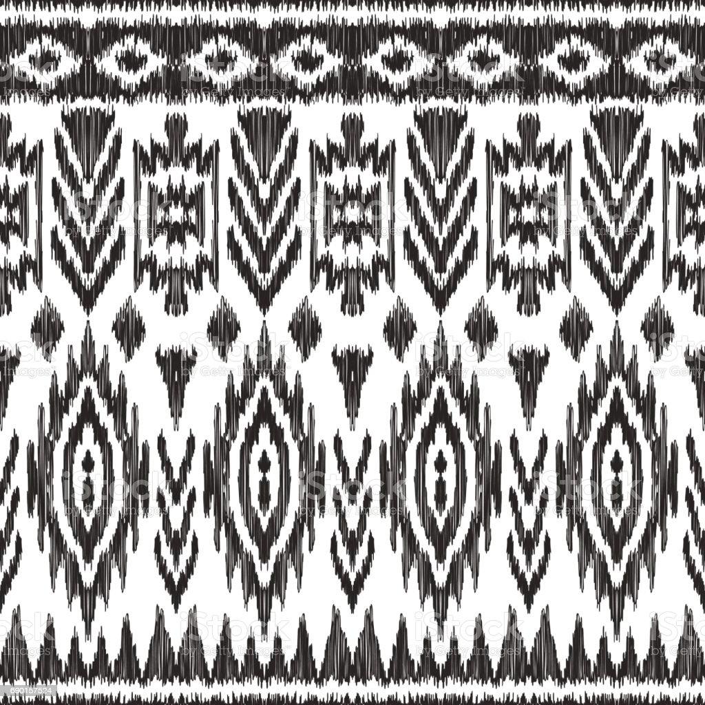 Atzec seamless pattern. vector art illustration