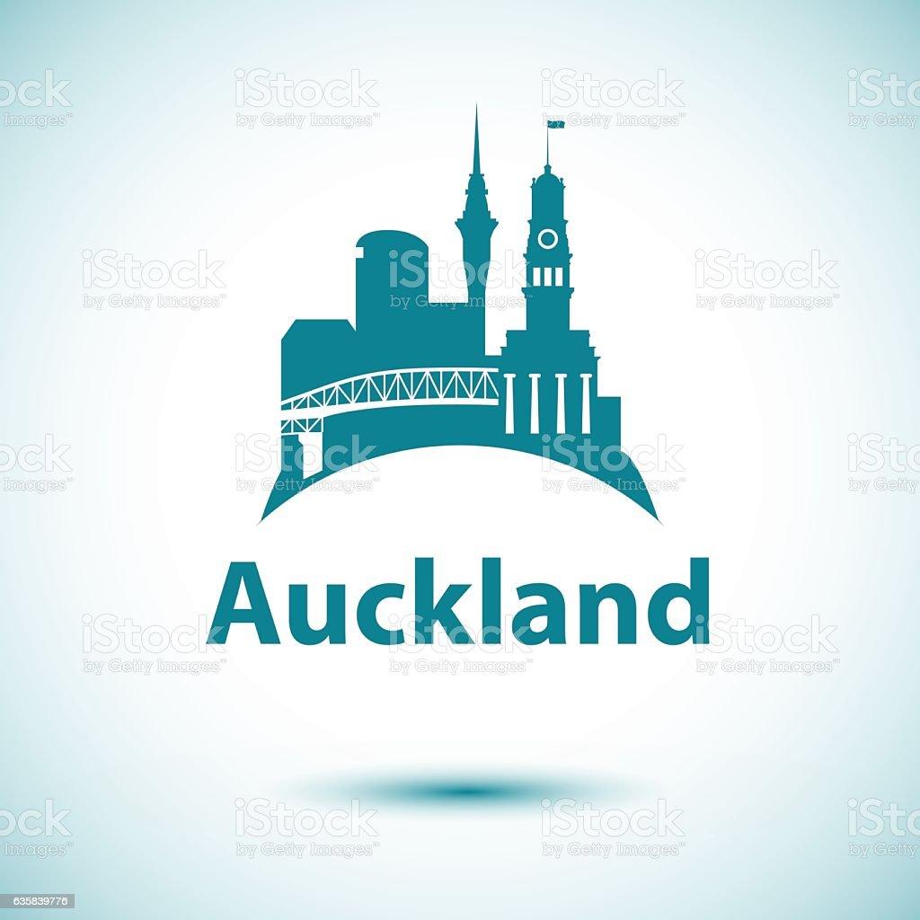 Auckland vector art illustration
