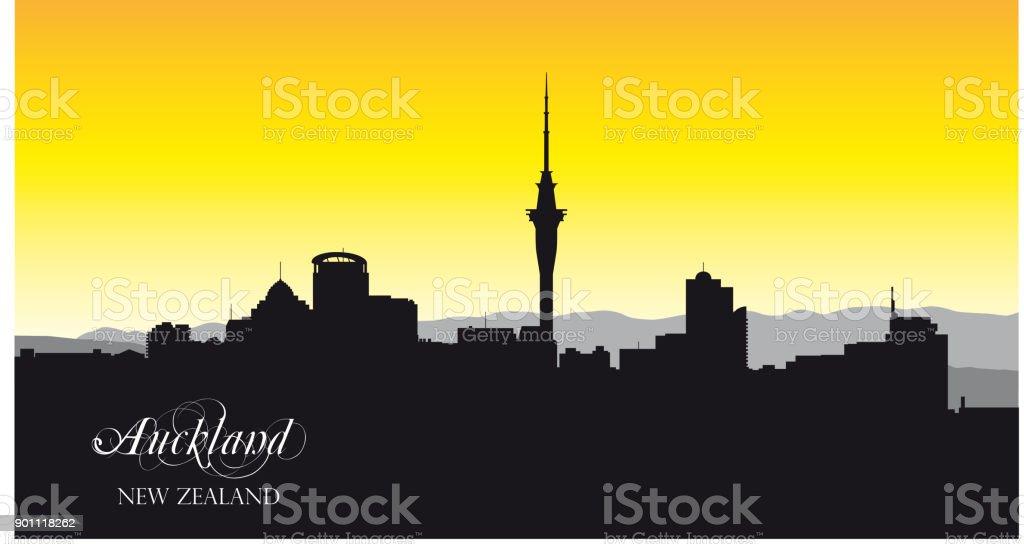 auckland vector silhouette vector art illustration