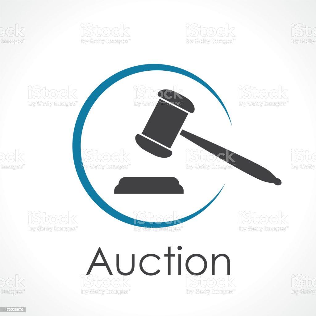 auction vector art illustration