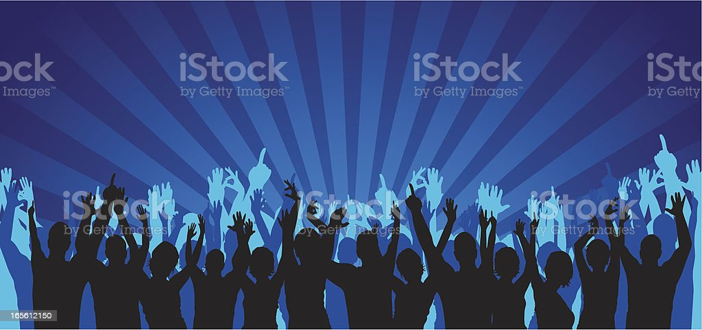 Audience - Crowd royalty-free stock vector art