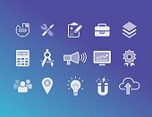 Icon set for digital marketing