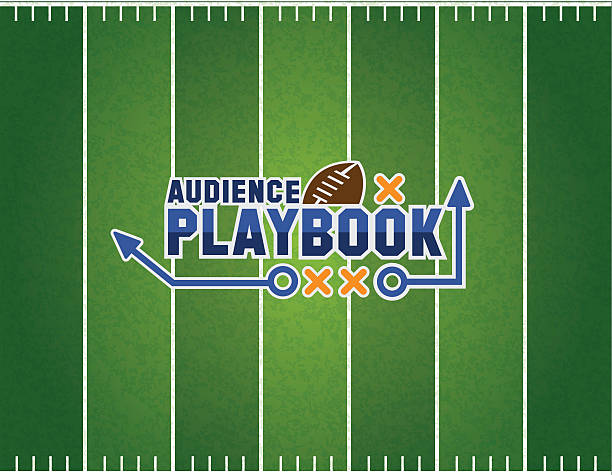 audience playbook - football field stock illustrations