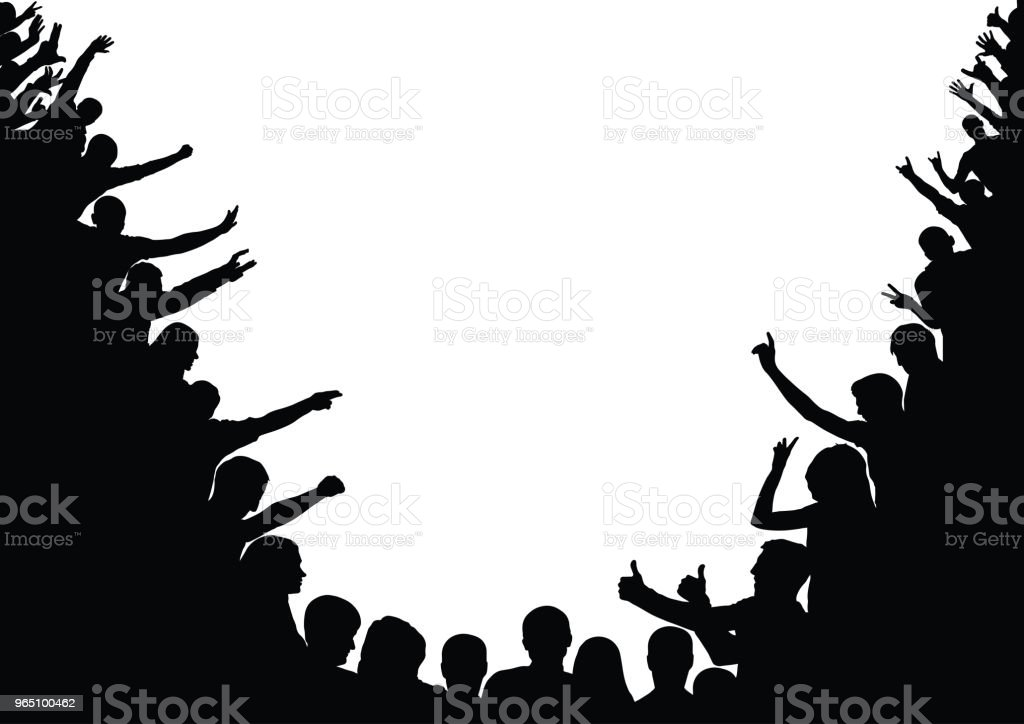 Audience, spectators, public. Crowd, silhouettes. Vector royalty-free audience spectators public crowd silhouettes vector stock vector art & more images of adult
