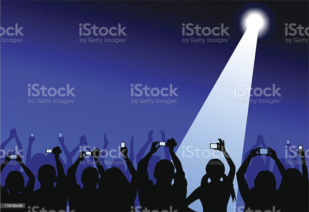Audience with cameras royalty-free stock vector art