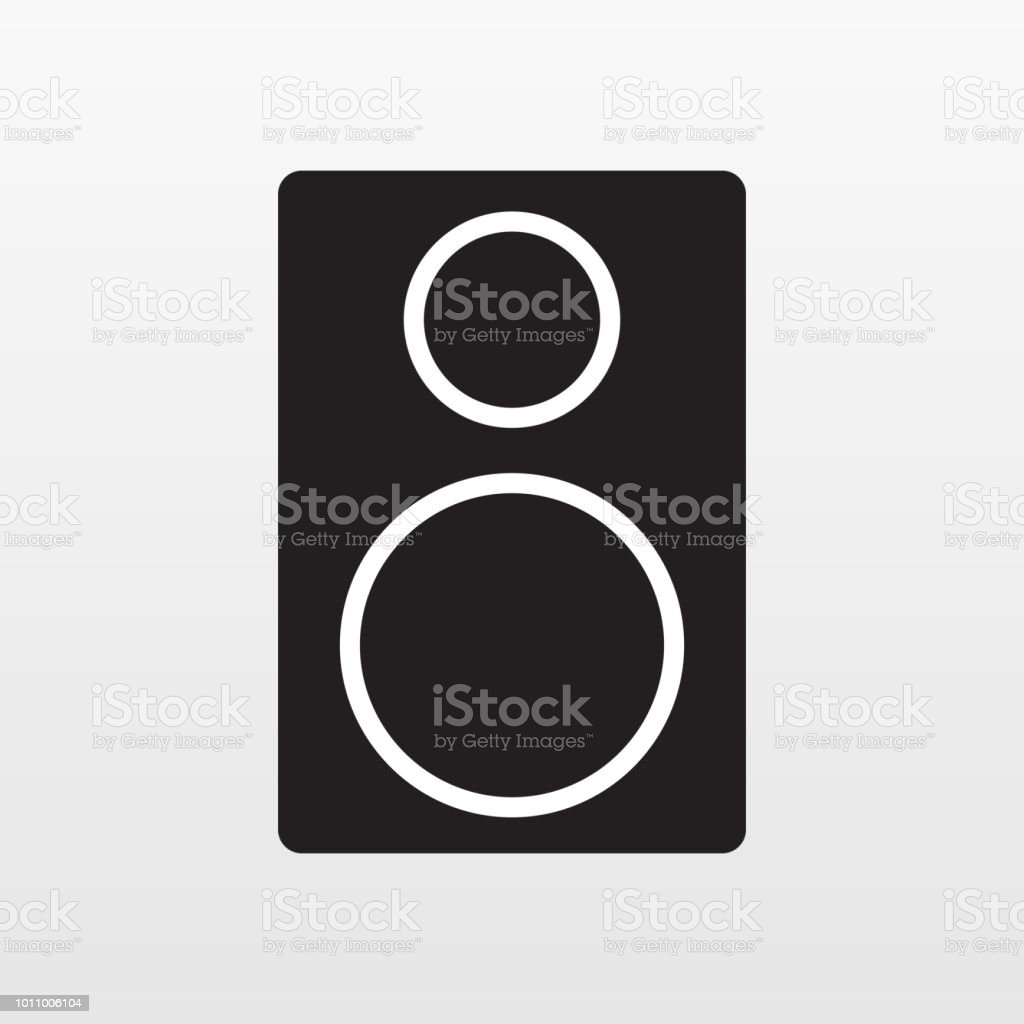 Audio acoustic apparatus icon isolated on background. Modern simple flat sign. Business, internet co