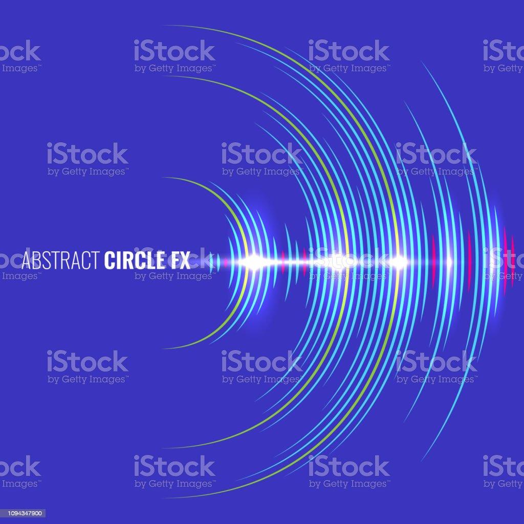 抽象的な音楽波形オーディオ アルバム カバー。ベクトルの図。 - つながりのロイヤリティフリーベクトルアート