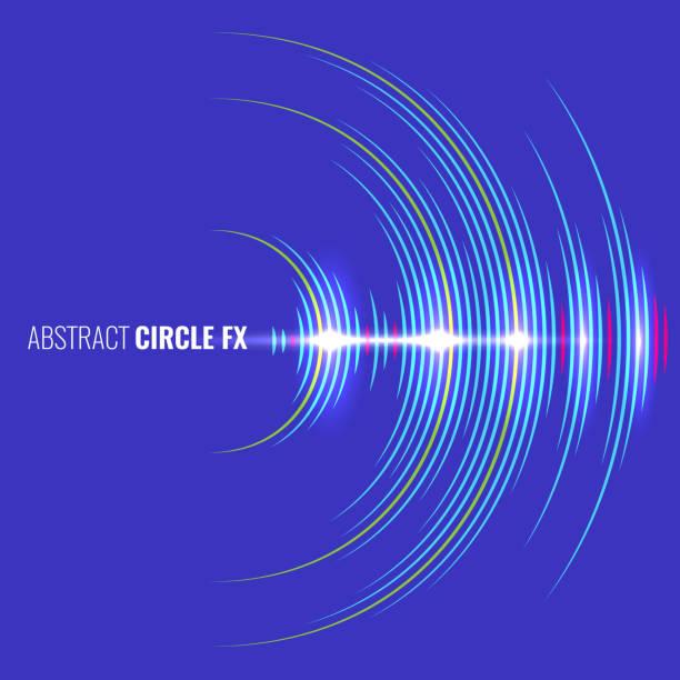 抽象的な音楽波形オーディオ アルバム カバー。ベクトルの図。 - 音響点のイラスト素材/クリップアート素材/マンガ素材/アイコン素材