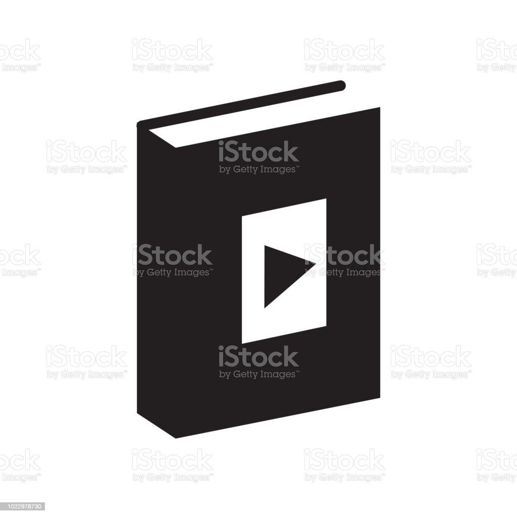 Livre Audio Icone Vector Signe Et Le Symbole Isole Sur Fond