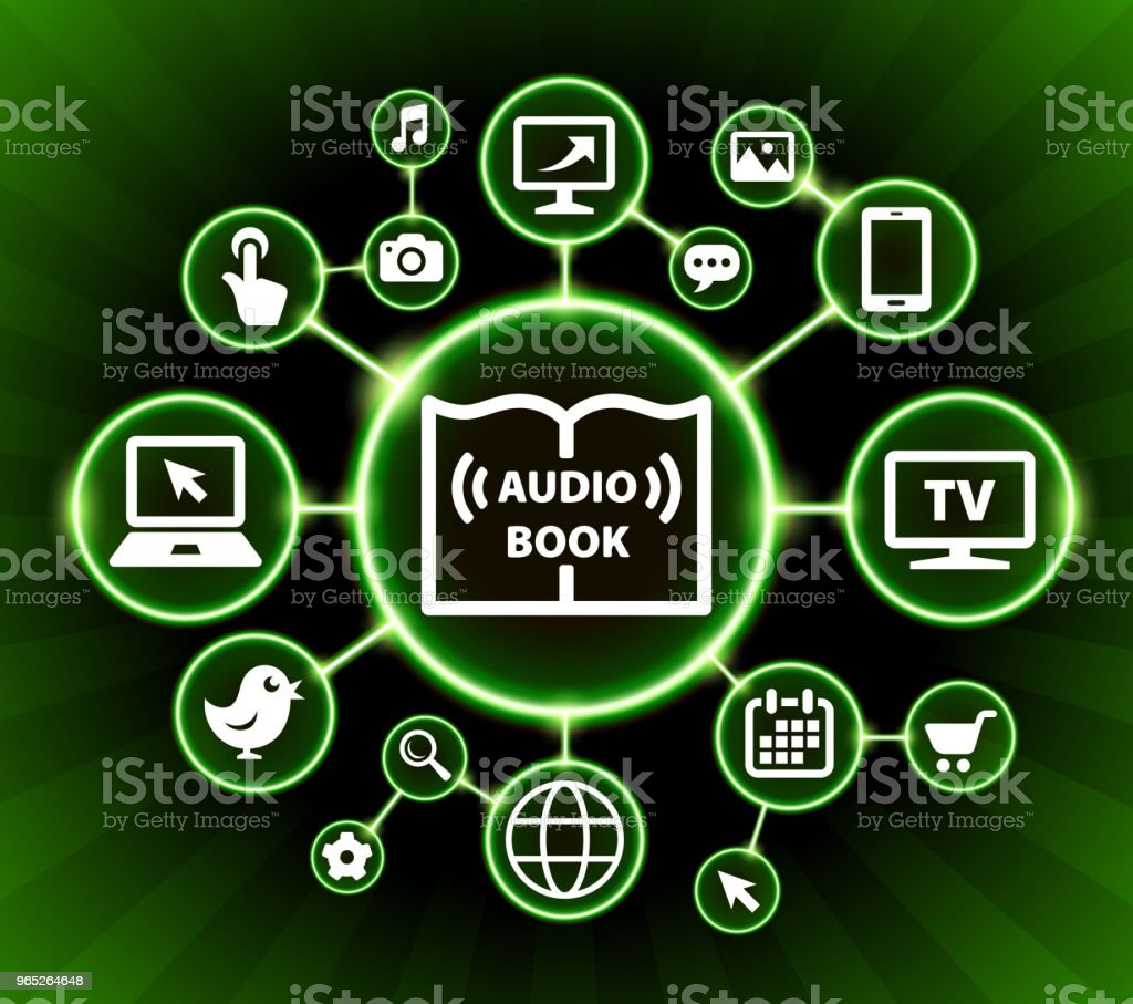 Audio Book Internet Communication Technology Dark Buttons Background royalty-free audio book internet communication technology dark buttons background stock vector art & more images of backgrounds
