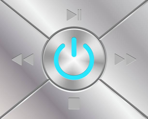 Audio-Tasten mit macht simbol – Vektorgrafik