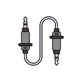 Audio cable, music icon. Element of color music studio equipment icon. Premium quality graphic design icon. Signs and symbols collection icon