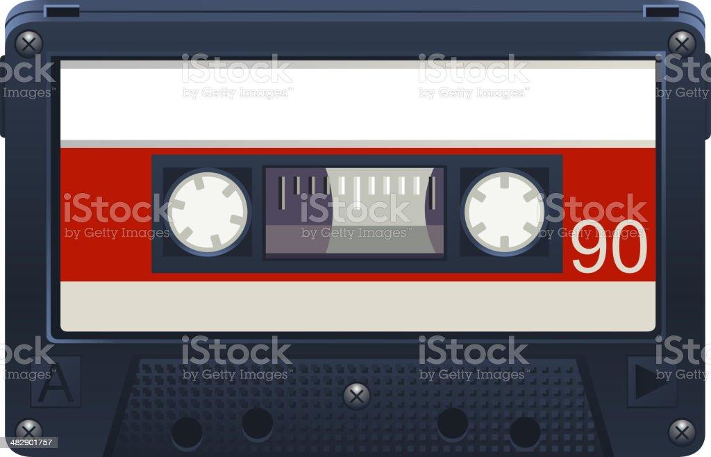 Audio Cassette Retro Tape Recorder royalty-free stock vector art