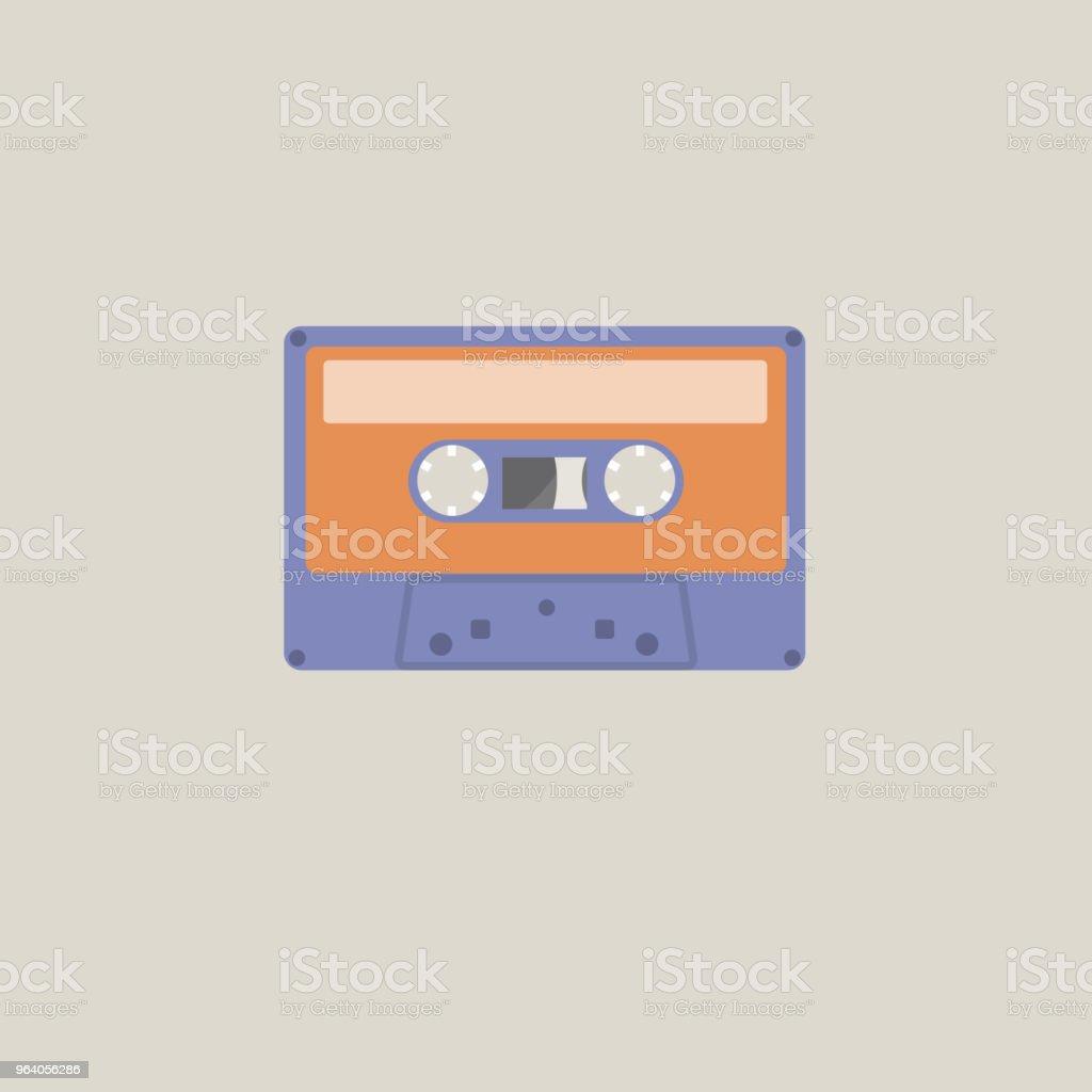 Audio Cassette Tape Flat Design - Royalty-free Audio Cassette stock vector