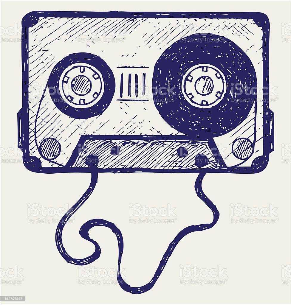Audio cassette tape royalty-free stock vector art