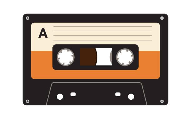 ilustraciones, imágenes clip art, dibujos animados e iconos de stock de casete de cinta - tape