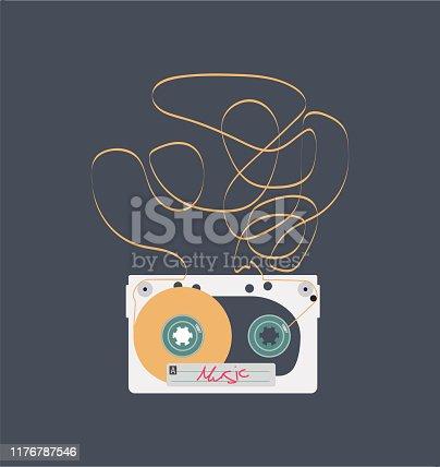 istock Audio cassette 1176787546