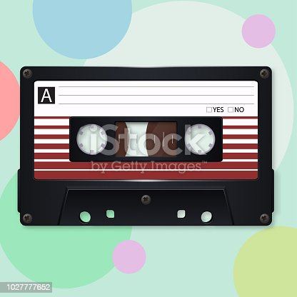Audio cassette. Vector illustration