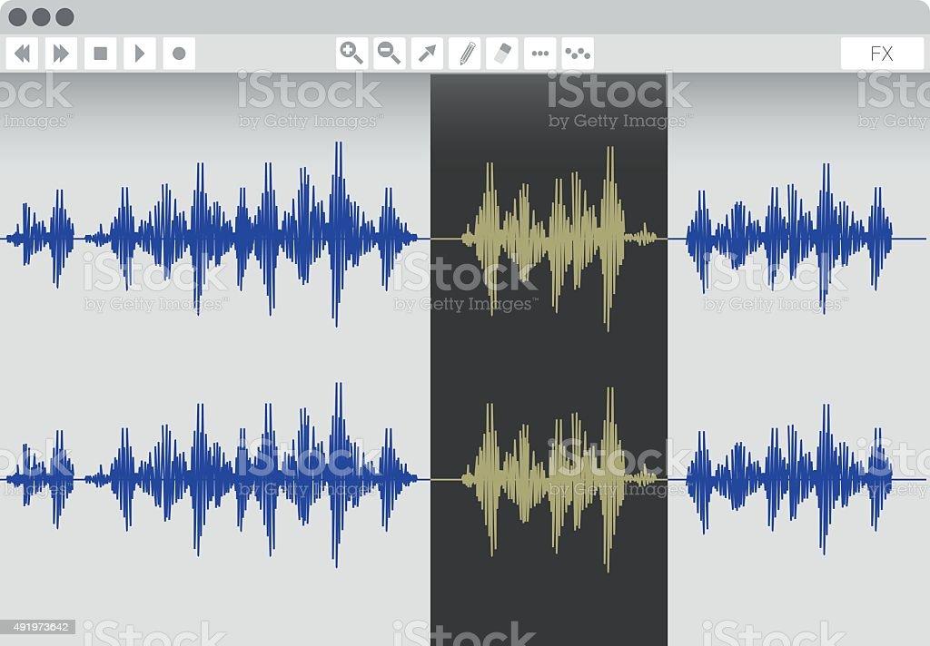 Audio edit software vector art illustration