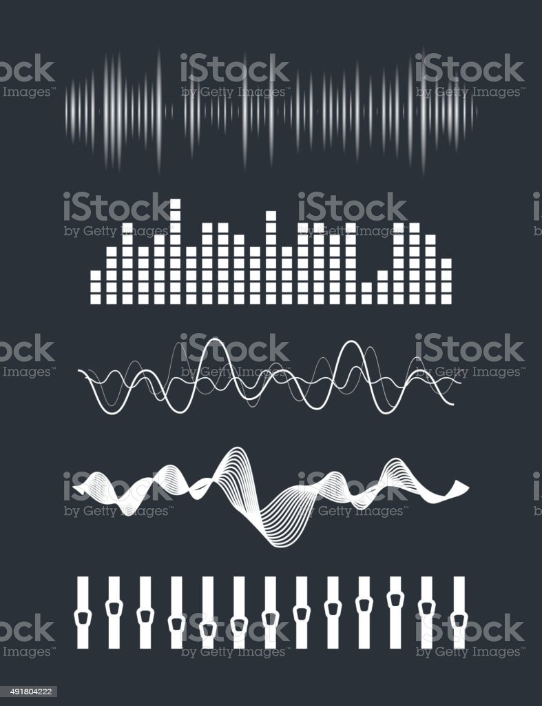 Audio equalizer vector art illustration