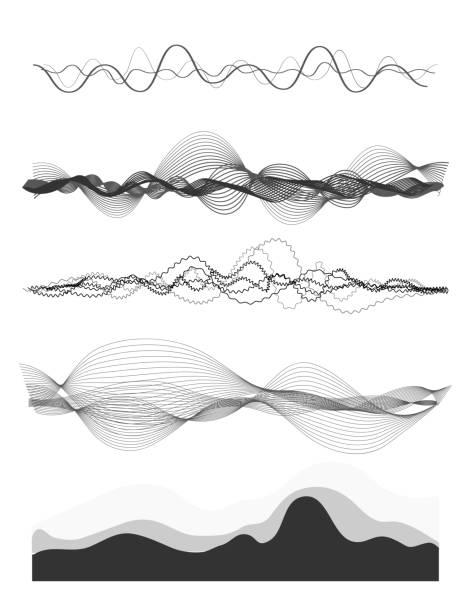 audio equalizer - squiggle line stock illustrations